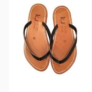 k jacques st tropez black flip flops ⭐️✨